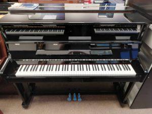 Ritmuller upright piano R118 (Black) LL Pianos 01923 820 470
